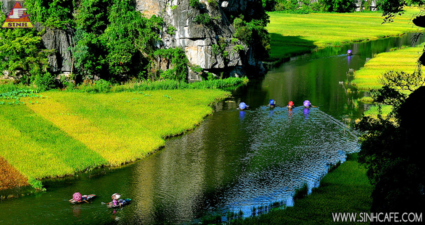 Tam Coc in the afternoon
